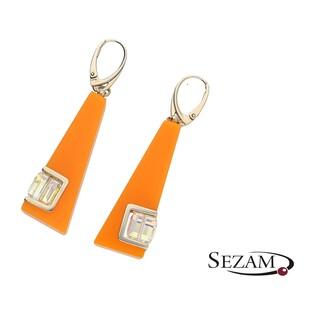 Kolczyki Street Line Diamond pomarańczowe M2