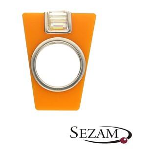 Pierścionek 2 pomarańczowy akryl+Swarovski M2 STREET LINE 2 pomarańczowy próba 925