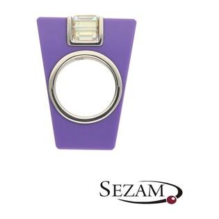 Pierścionek 2 fioletowy akryl+Swarovski M2 STREET LINE 2 fioletowy akryl próba 925