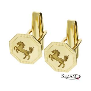 Spinki męskie złote do mankietów mustang numer PF01-SP Au 585