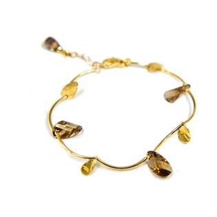 Bransoleta złota z kolekcji Laurel z kwarcem dymnym nr FL 26200 Au 585