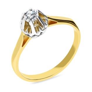 Pierścionek zaręczynowy z diamentem nr GR 20 Flower