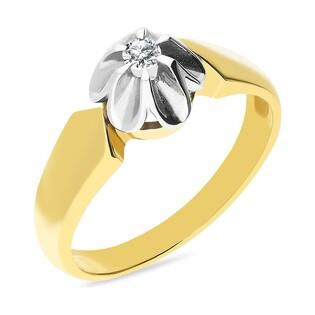 Pierścionek zaręczynowy z diamentem nr GR 2347 FLOWER