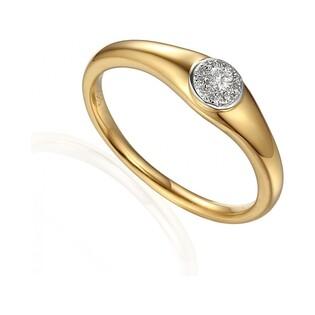 Pierścionek złoty zaręczynowy WENUS nr AW 63450 YW Au 585
