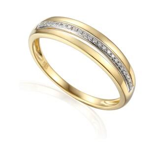 Pierścionek złoty z diamentami nr AW 39597 Y LINE