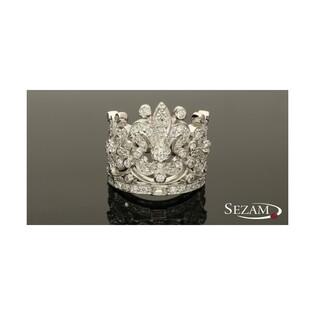 Pierścionek srebrny w kształcie korony nr CP RZC 28946