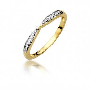 Pierścionek złoty z diamentami nr BE W-425 próba 585 RINGS
