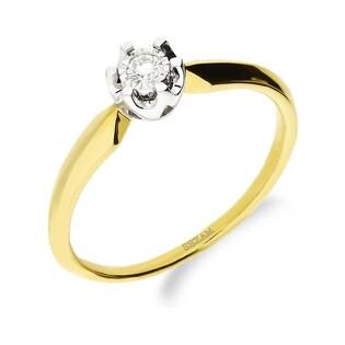 Pierścionek zaręczynowy z diamentem Soliter Magic nr KU 68002 próba 585