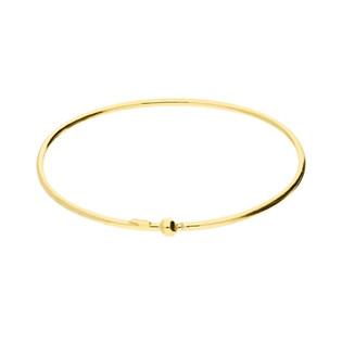 Bransoleta srebrna pozłacana bangle z kulką nr RT BIG bangle gold próba 925