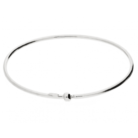 Bransoleta srebrna bangle z kulką RT BIG bangle rod próba 925