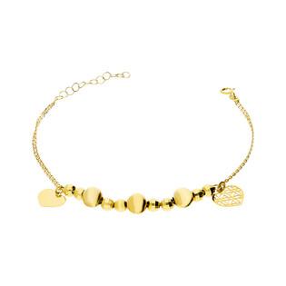 Bransoleta złota z kulkami i sercem nr TB013 próba 585