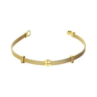 Bransoleta złota MESH koniczyna i pałka z cyrkoniami nr OP085 próba 333