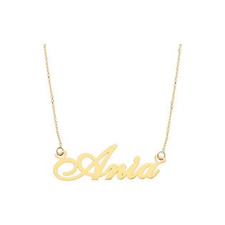 Naszyjnik złoty z imieniem Ania nr RU0010 ANIA próba 585