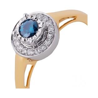 Pierścionek zaręczynowy z diamentami RQ 393M BLUE DIAMOND próba 585