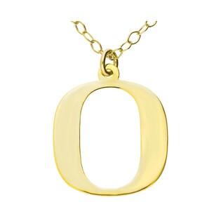 Naszyjnik srebrny pozłacany literka O nr. AT204-O GOLD próba 925