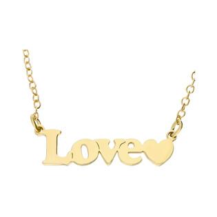 Naszyjnik pozłacany z napisem LOVE nr BK 101513 Love próba 925