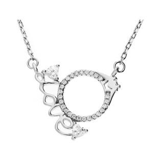 Naszyjnik srebrny z pierścionkiem zaręczynowym nr JA570 próba 925