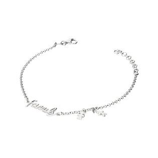 Bransoletka srebrna z napisem Family nr NI462 próba 925