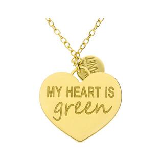 Naszyjnik pozłacany MY HEART IS GREEN TA CLT10267 GOLD próba 925