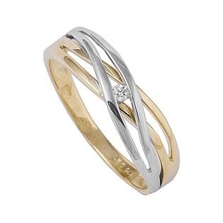 Pierścionek zaręczynowy z brylantem BRAID nr BU 545626 próba 585
