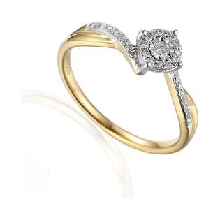 Pierścionek zaręczynowy z brylantami numer AW 59056 YW Sweet bis
