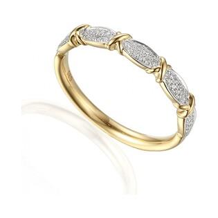 Pierścionek złoty z diamentami LINE fancy AW 59644 Y próba 585 RINGS