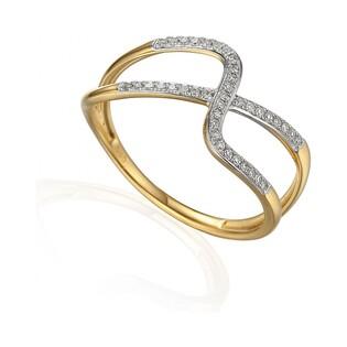 Pierścionek złoty z diamentami VENEZIA Fancy AW 63387 Y próba 585 VENEZIA