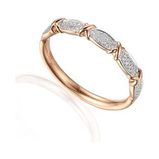 Pierścionek zaręczynowy z brylantami numer AW 59644 R rose LINE fancy