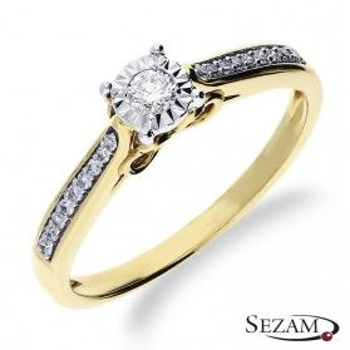 Pierścionek zaręczynowy z diamentami Amado Magic nr RO K101 Au 585