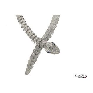 Naszyjnik wąż BVL cyrkonie/kolia A01 próba 925
