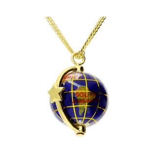 Naszyjnik World of Love-gwiazda/lisi ogon CP NPC93446 globus kam.naturalne próba 925