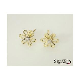 Kolczyki złote kwiaty nr MZ EP187-CZ próba 585