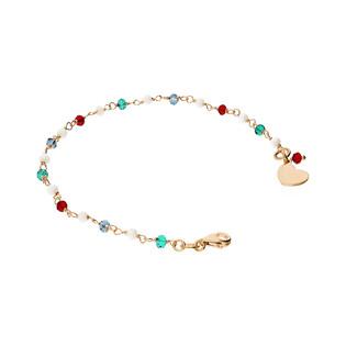 Bransoletka serca z kolorowymi koralikami nr NI357-3 próba 925