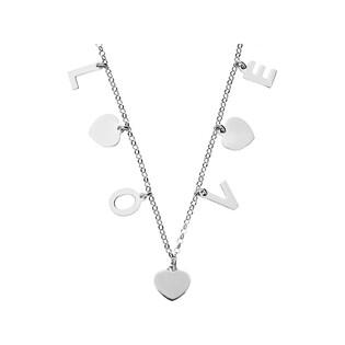 Naszyjnik srebrny z napisem LOVE nr RT CL23480M rod próba 925