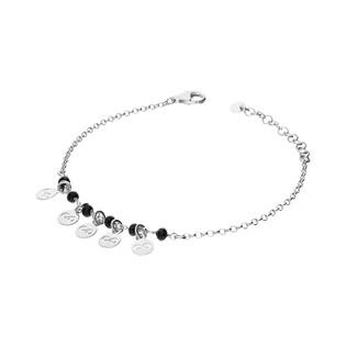 Bransoleta srebrna z kulkami i infinity nr. NI572 próba 925