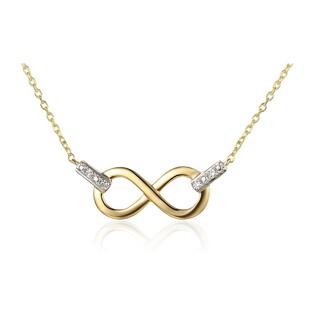 Naszyjnik złoty infinity z diamentami AW 65977 Y-05640 Y próba 585