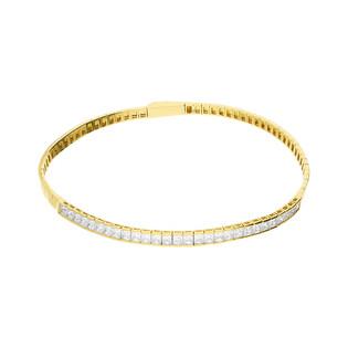 Bransoleta złota bangle z cyrkoniami nr AR4 próba 585