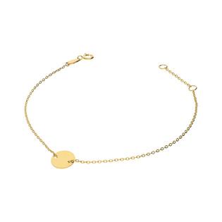 Bransoletka złota z zawieszką kółko nr AR 0747-III próba 585
