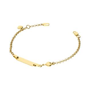 Bransoletka złota z blaszką nr AR XXMROB1173 próba 585