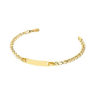 Bransoletka złota z blaszką nr LP 22U25-STB0018 próba 585