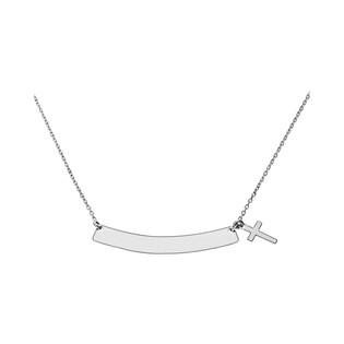 Naszyjnik srebrny z blaszką i krzyżem nr PW 69 próba 925