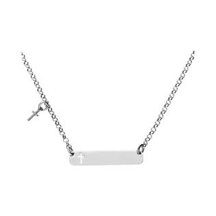 Naszyjnik srebrny z blaszka i krzyżem wycięty na blaszce nr BB SXNK0005 próba 925