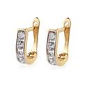 Kolczyki złote dla dziewczynki z cyrkoniami nr MZ T5-A1 próba 585