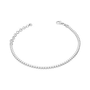 Bransoletka damska srebrna z cyrkoniami nr NI588 rod próba 925