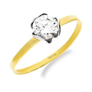 Pierścionek złoty z cyrkonią w kwiatku nr. MI 000LAP-2 próba 585