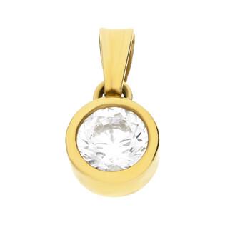 Zawieszka złota z cyrkonią w gładkiej oprawie nr. OS 96-0819-6 próba 585