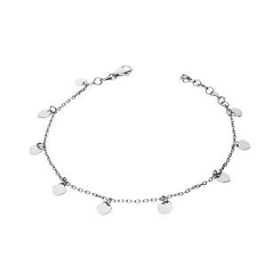 Bransoleta srebrna serca wiszące/anker nr. NI258-1 próba 925