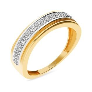 Pierścionek zaręczynowy z różowego złota w towarzystwie diamentów nr KU 106945 LINE