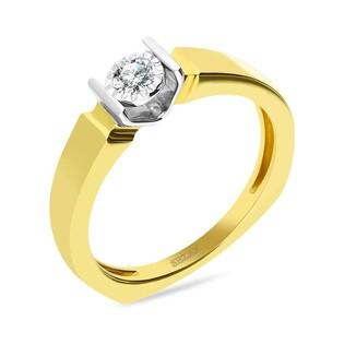 Pierścionek zaręczynowy ETERNO z diamentem nr KU 8980 próba 585
