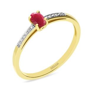 Pierścionek zaręczynowy z rubinem nr RSV0025